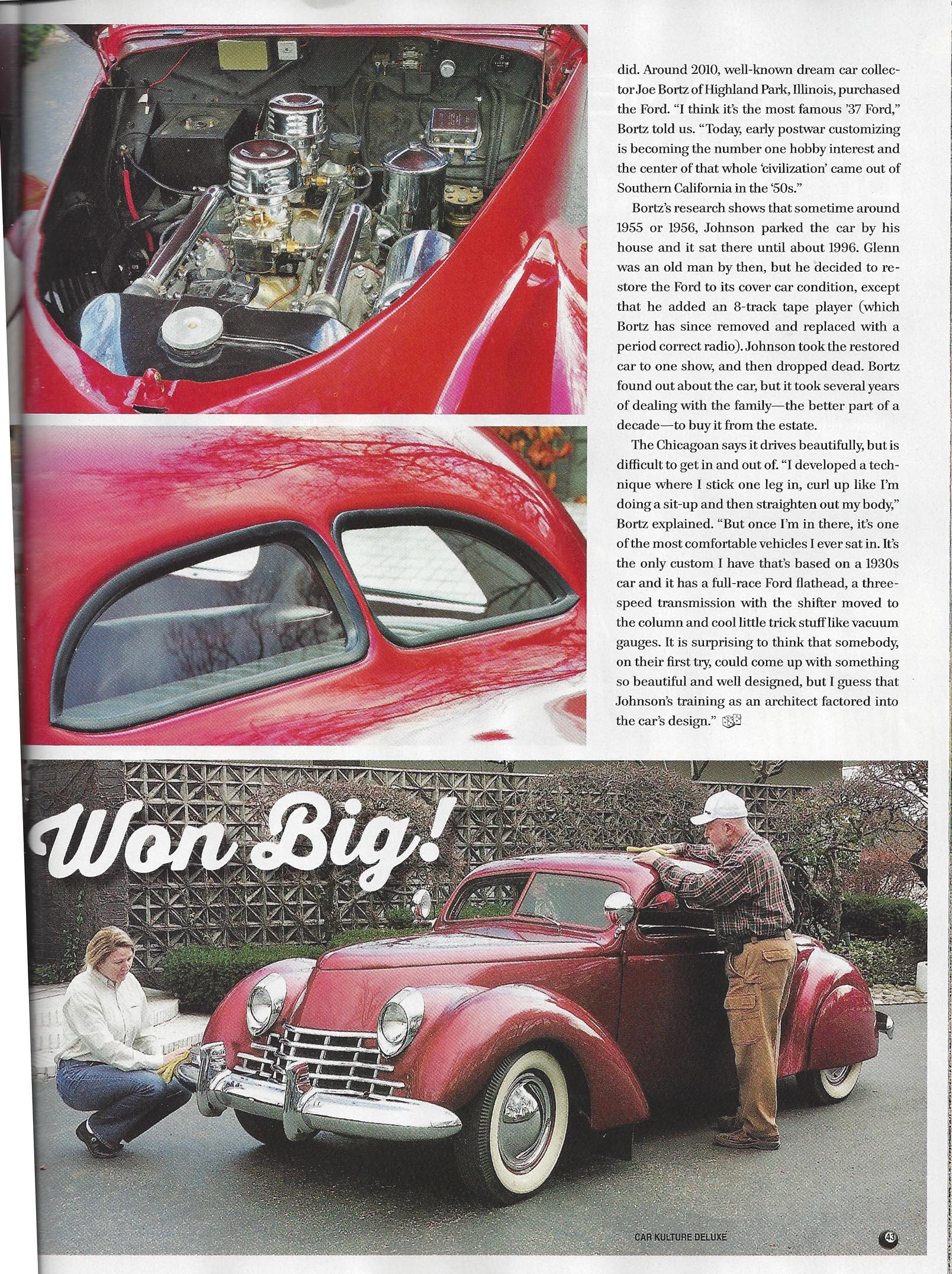 Vegas Architect Gambled on Custom Coupe and Won Big by John Gunnell, Photos by Al Rogers, Car Kulture Deluxe Sept 2014