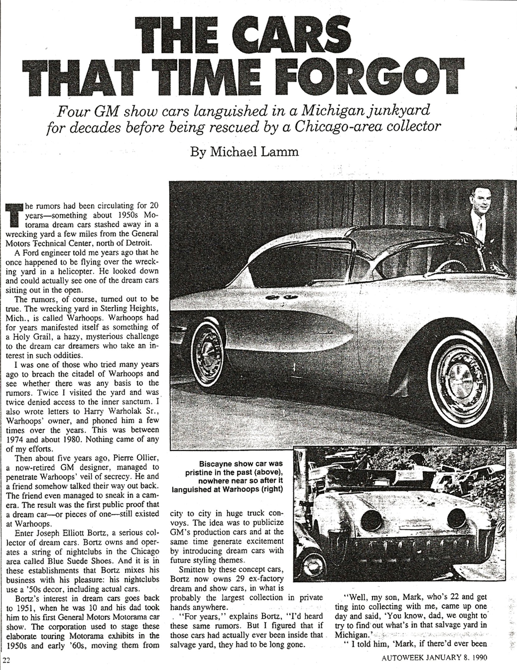 The Cars That Time Forgot by Michael Lamm