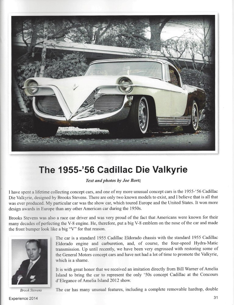 The 1955-'56 Cadillac die Valkyrie