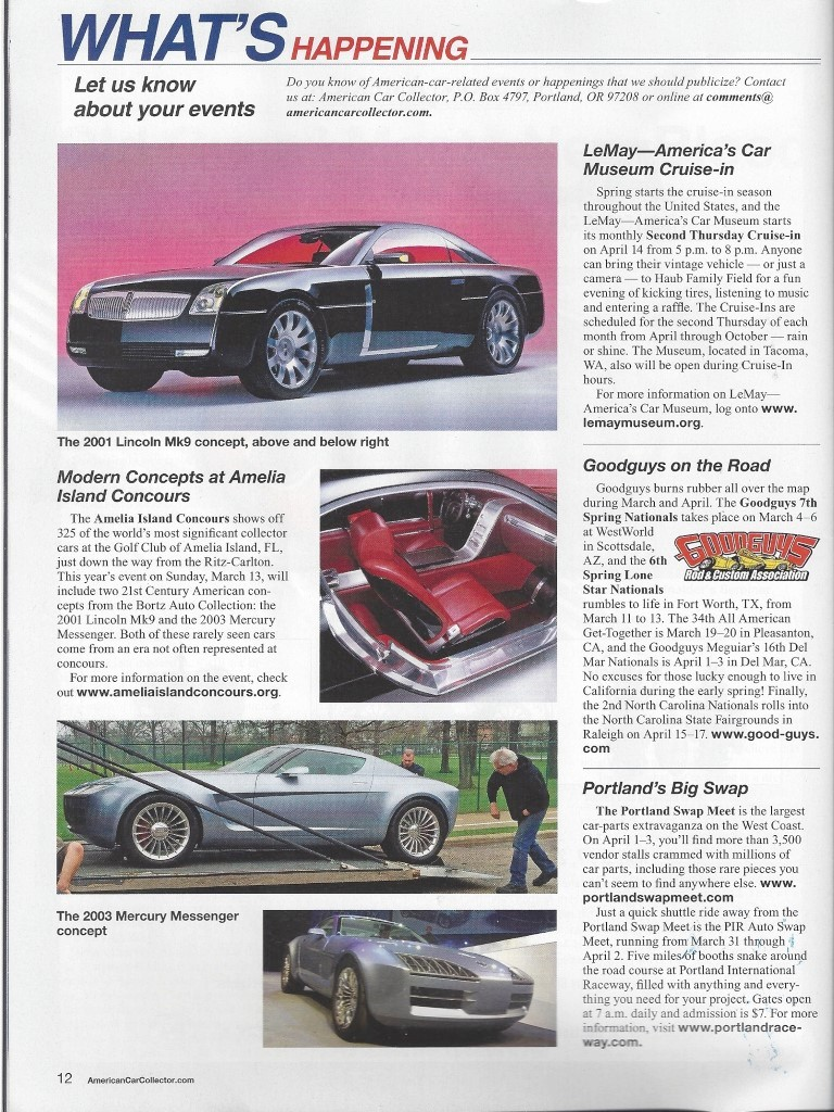 Modern Concepts at Amelia Island Concours, American Car Collector, March-April 2016