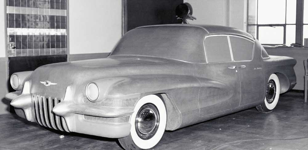 1955 LaSalle 4-door hardtop finished in clay at the GM tech center circa 1954
