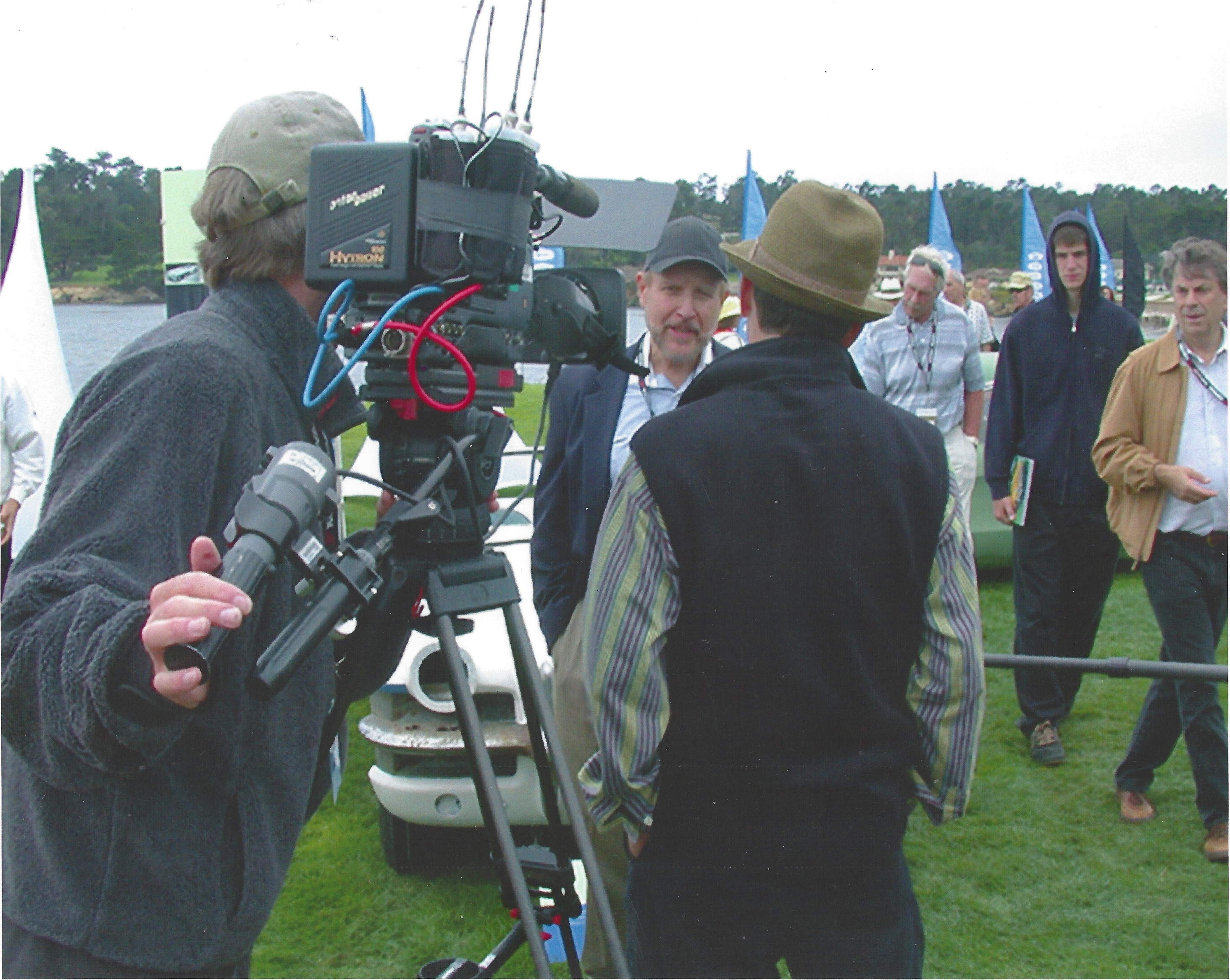 Joe Bortz being interviewed at General Motor's 100th Anniversary atPebble Beach 2008