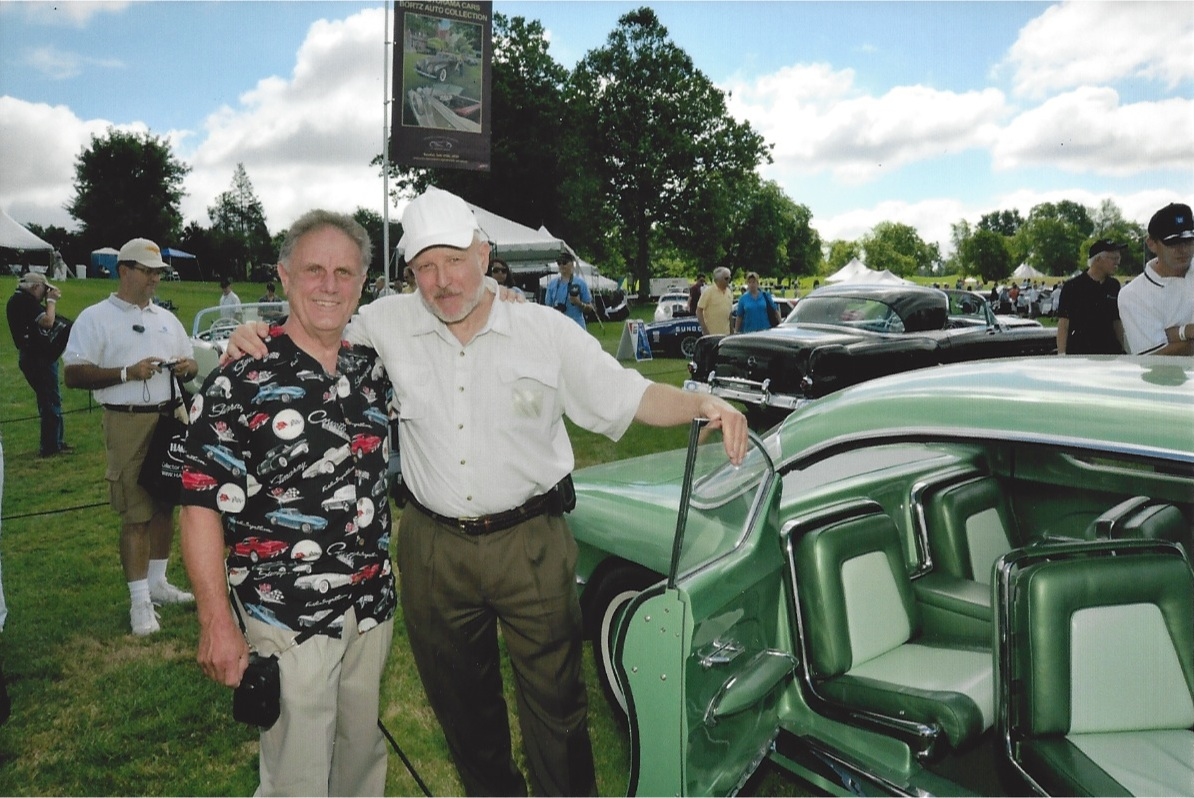 Harry Warholak & Joe Bortz with 1955 Biscayne at Meadowbrook 2010