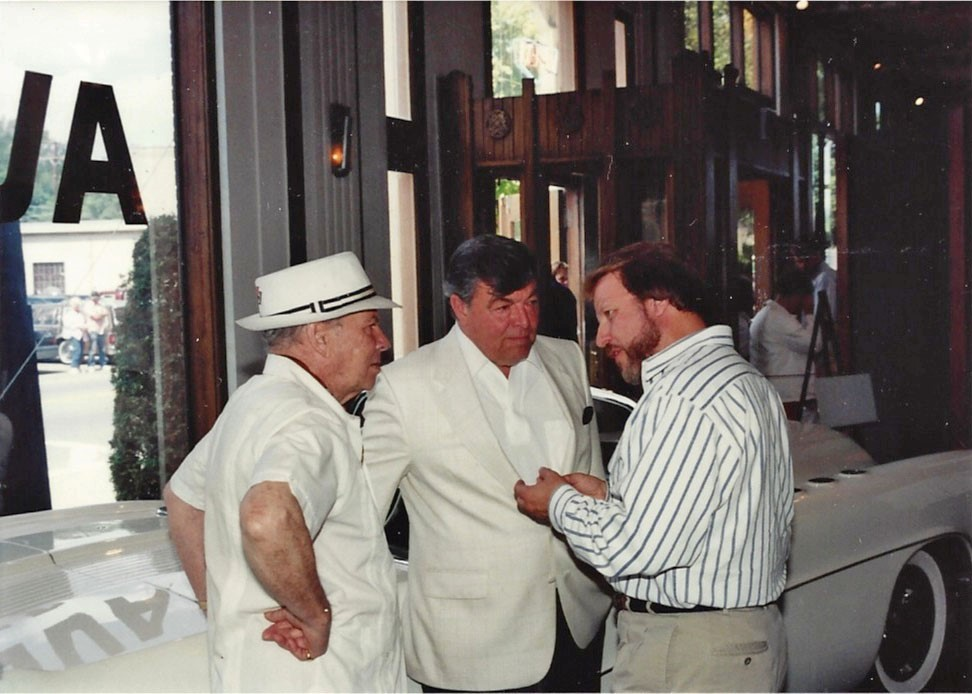 Joe Bortz, Dave Holls (GM VP of Design) and Henry Lauve (GM VP of Interior Design) at the Auburn Cord Duesenberg 1991