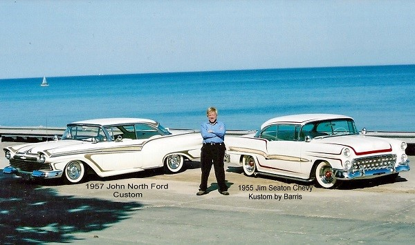 East Coast 1957 John North Custom & West Coast 1955 Jim Seaton Chevy Barris Kustom