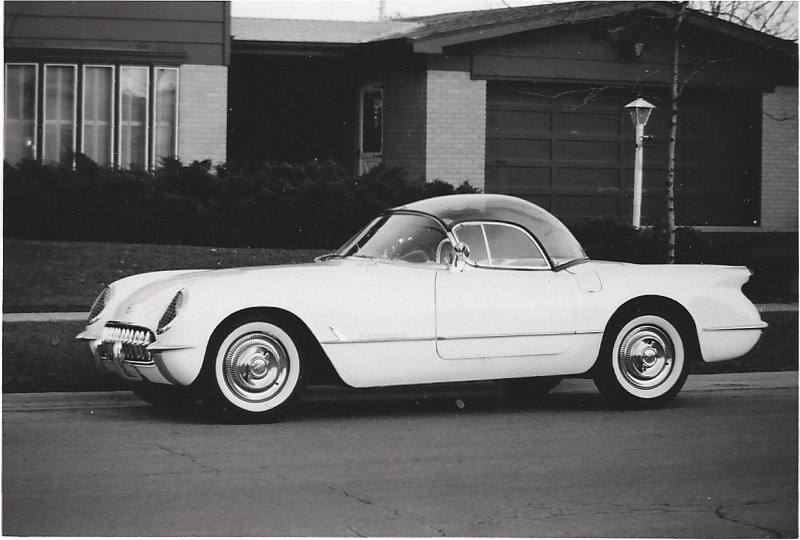 1954 Corvette with original authentic see-through plastic top owned by Sid Diamond.