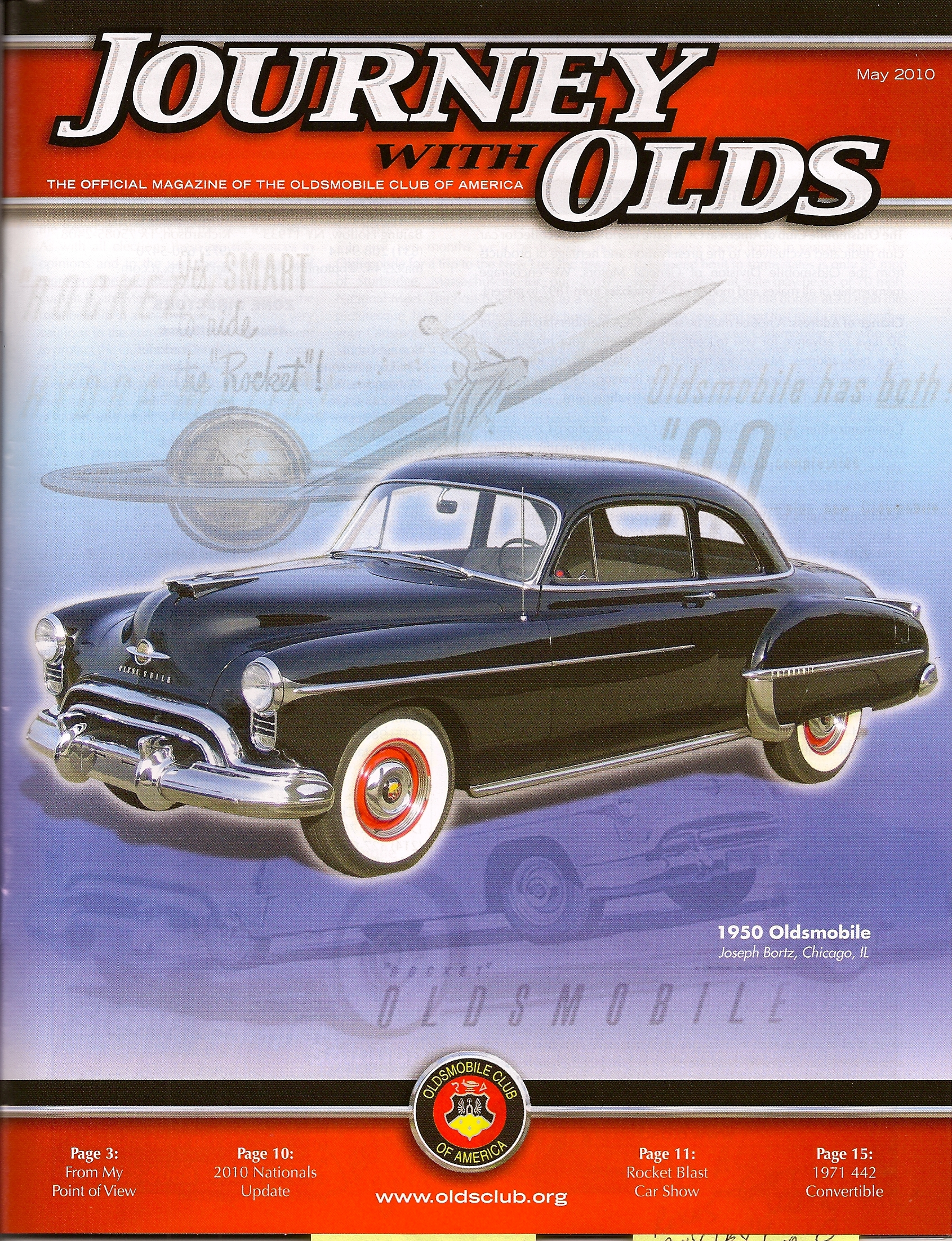 1950 Oldsmobile Bubble Top, journey with the olds